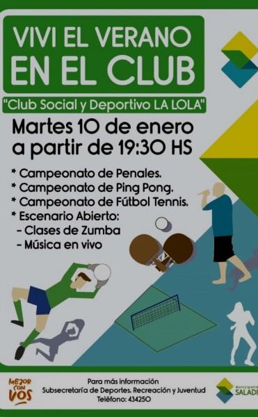 """""""Viví el verano en el Club"""" a partir del 10 de enero"""