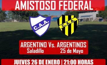 Argentino juega hoy un amistoso en el Adolfo Canteli