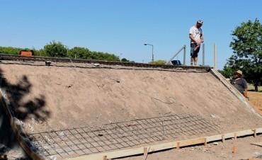 Avances en las obras  del Skate Park en Saladillo