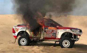 El fuego destruyó el sueño de Alicia Reina en el Dakar 2018