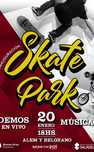 Se inaugura mañana Skate Park  en Alem y Belgrano