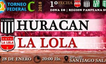Huracán recibe a La Lola por el Torneo Federal C