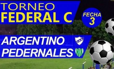 Argentino recibe hoy a Pedernales por la 3° fecha del Torneo Federal C