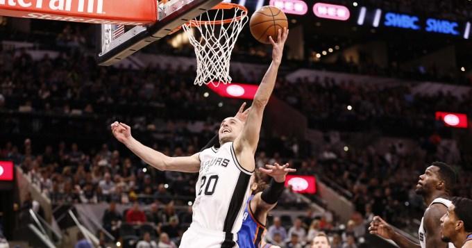 Ginóbili cumplió en otra victoria de los Spurs en la NBA