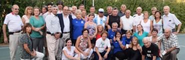 Salomón estuvo en la inauguración de la cancha de voley en el Centro Saavedra