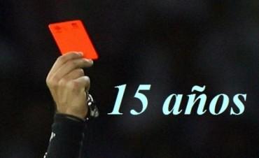 15 años de suspensión para el jugador Andres Pallero