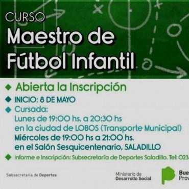 Curso de Maestro de Fútbol Infantil en Lobos