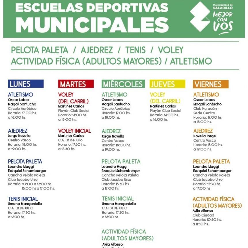 Escuelas deportivas municipales de Saladillo
