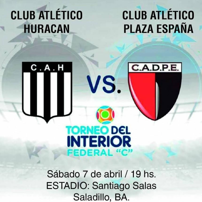 Huracán juega hoy ante Plaza España por el Federal C