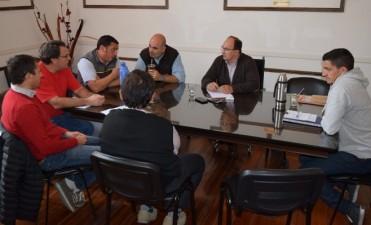 Salomón y Méndez recibieron a las comisiones del club Ciudad y del Saladillo Hockey