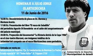 Este sábado se realiza el homenaje a Julio Jorge Olarticoechea