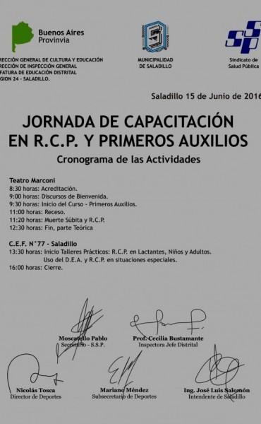 Jornada de Capacitación en RCP y Primeros Auxilios