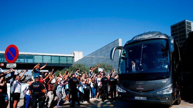 El seleccionado argentino ya entrena en Barcelona