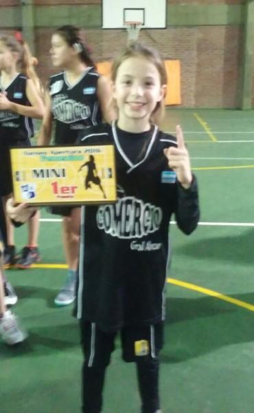 Belu Rojas campeona en la Liga de Básquet de Olavarría
