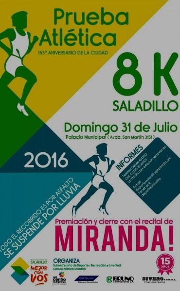 Se corre este domingo la Maratón 153° Aniversario en Saladillo