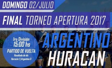 Se juega la final del fútbol saladillense entre Argentino y Huracán