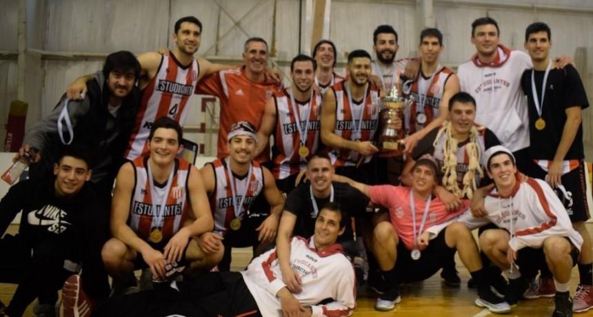 Juan Pedro Mazza campeón con Estudiantes de La Plata