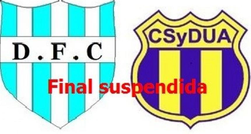 Suspendida la final de primera y segunda división