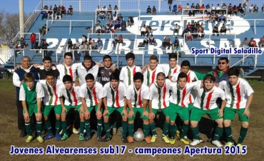 Jovenes Alvearenses campeones en Sub17