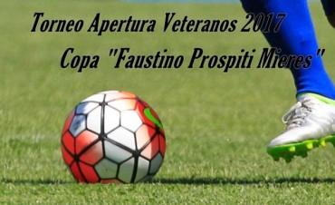 """Programa de la 15° fecha del Torneo de Veteranos """"Faustino Mieres"""""""