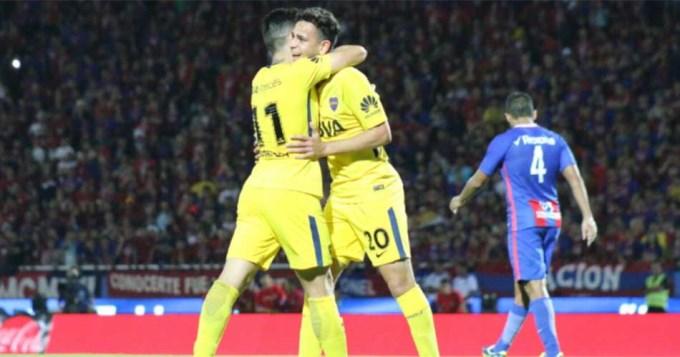 Boca le ganó a Cerro Porteño en la inauguración de su cancha