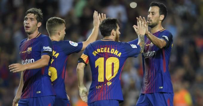 Con Messi como figura, el Barça arrancó ganando