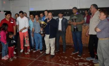 José Luis Salomón  participó del agasajo de los integrantes del equipo de fútbol de La Chacarita