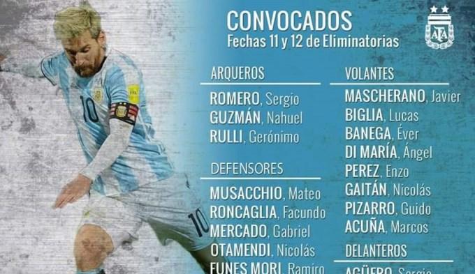 Bauza dio la lista: vuelve Messi, sigue Agüero y más cambios