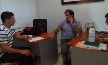 El Subsecretario y el Director de Deportes se reunieron con el titular de la Liga de Fútbol