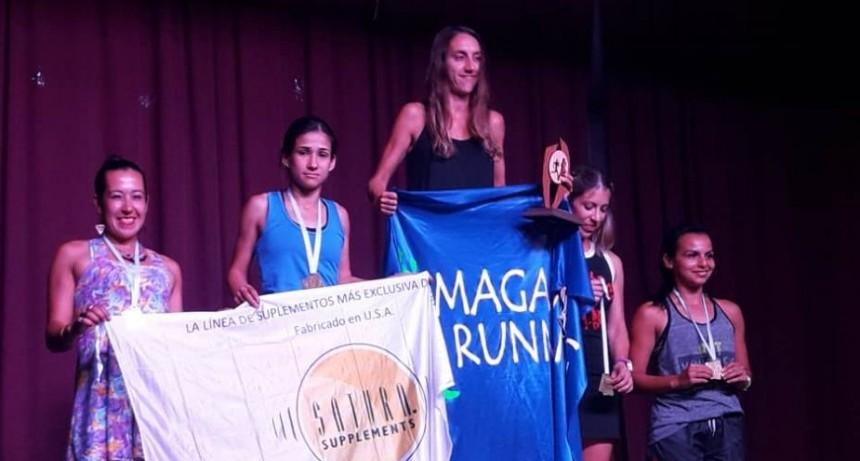 Francisca Almirón corrio la Maratón de Reyes en Trenque Lauquen