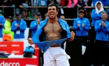 Berlocq igualó la serie de la Copa Davis ante Italia y se define este lunes