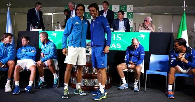Pella y Lorenzi abren la serie de Copa Davis