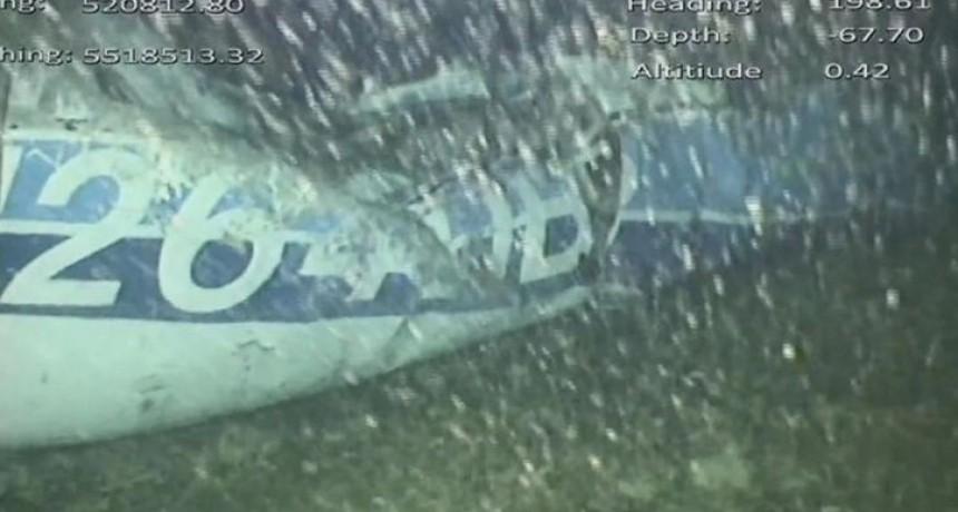 La primera imagen del hallazgo del avión que trasladaba a Emiliano Sala