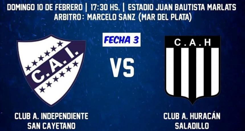 Huracán juega hoy ante Independiente de San Cayetano