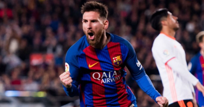 Con dos de Messi, Barcelona sigue de cerca al Real