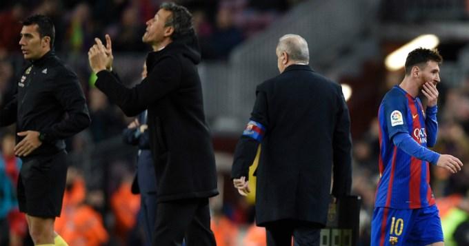 Goleada, punta y renuncia de Luis Enrique en el Barça