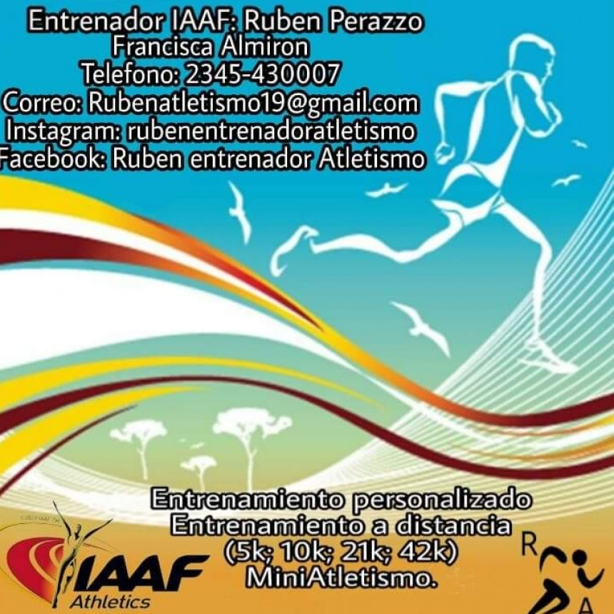Entrenamiento personalizado de Atletismo en Saladillo
