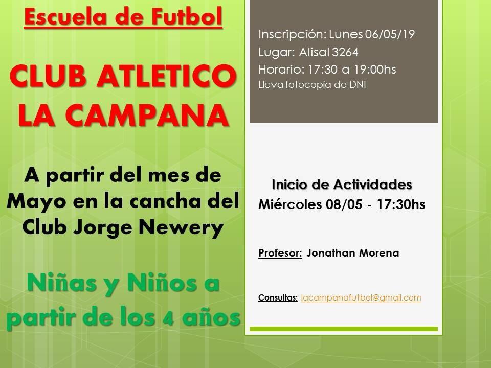 Club La Campana abre Escuelita de Fútbol en Newbery
