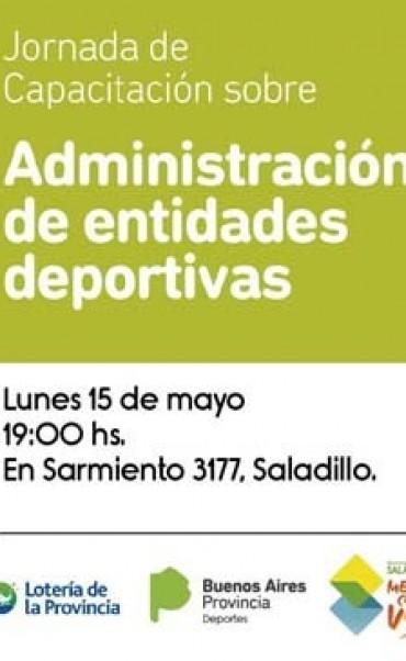 Este lunes habrá Jornada sobre administración de entidades deportivas