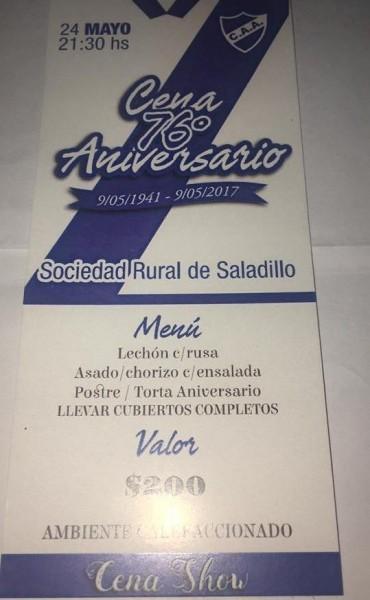 Argentino festeja su 76° aniversario con una gran Cena Show