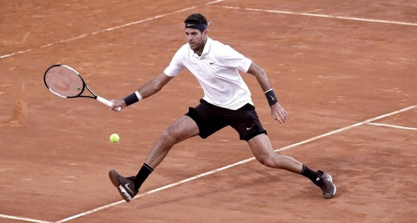 Del Potro ganó en su debut en R. Garros ante el chileno Nicolás Jarry