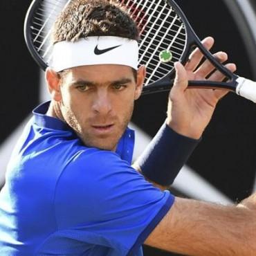 Juan Martín del Potro venció a Gilles Simon y es semifinalista sobre el césped del ATP de Stuttgart