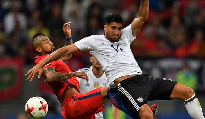 Alemania y Chile, empate y negocio para los dos
