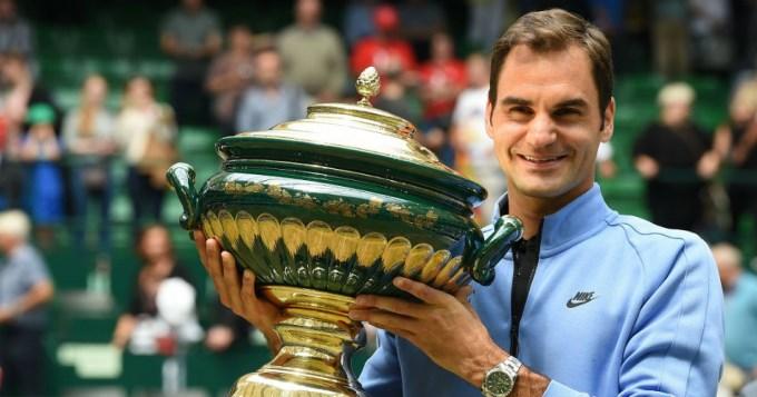 Federer, rey absoluto en Halle