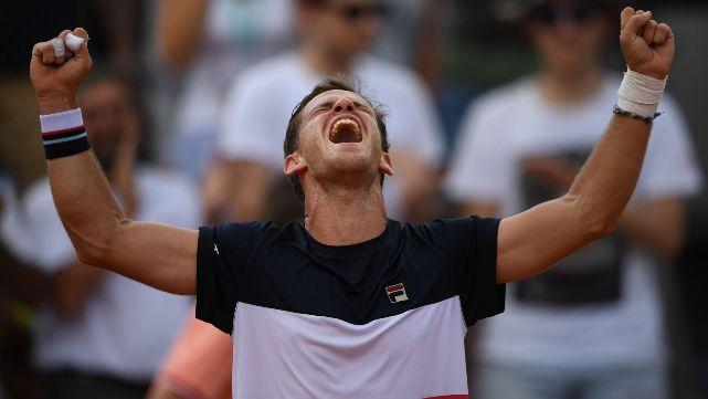 Épica remontada de Schwartzman para hacer historia en Roland Garros