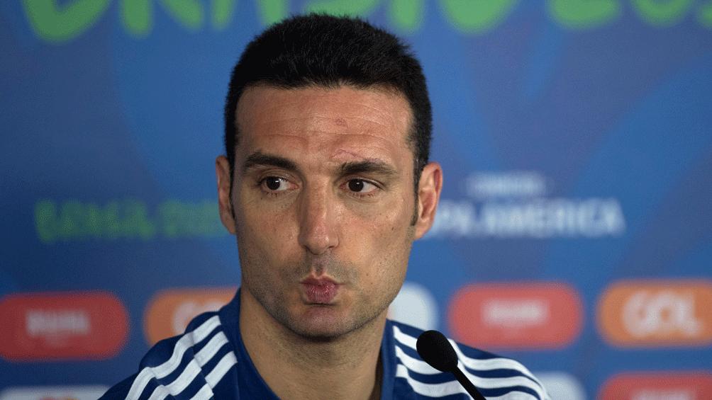 """Scaloni: """"El equipo estuvo muy firme en todo momento"""