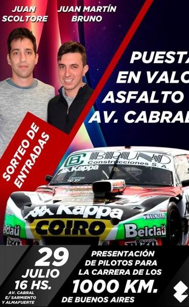 """Bruno y Scoltore presentan los """"1000 Km del TC"""" en Saladillo"""