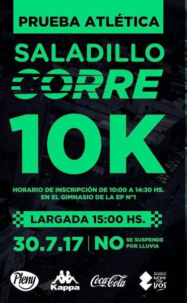 Se corren hoy los 10K 154° Aniversario Ciudad de Saladillo
