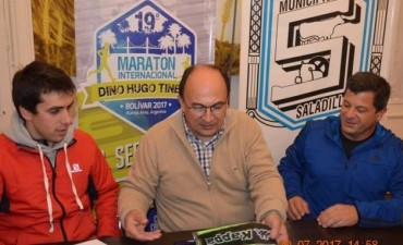 Saladillo firmó convenio con Bolívar por la Maratón Dino Hugo Tinelli