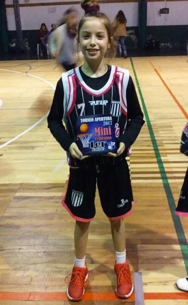 Belén Rojas juega hoy la eliminatoria de selecciones sub13 en Mar del Plata